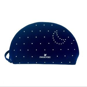 Swarovski Blue Velvet crystal cosmetic pouch/ case